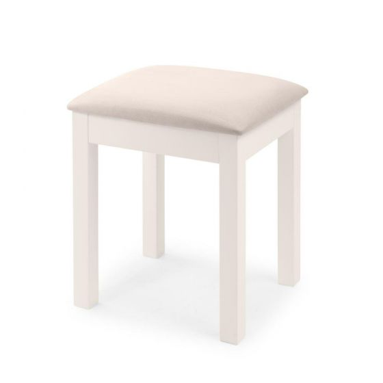 Maine White Dressing Table Stool