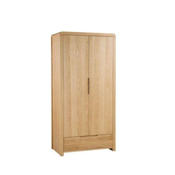Curve Oak 2 Door Combination Wardrobe