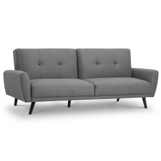 Monza Grey Fabric 3 Seater Sofa Bed