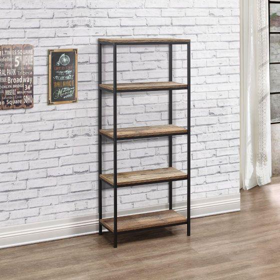 Urban Rustic 5 Tier Bookcase