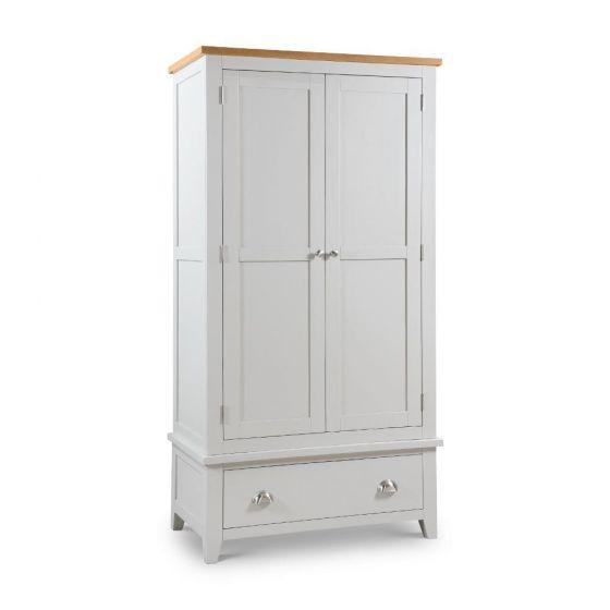 Richmond Grey and Oak 2 Door Wooden Combination Wardrobe