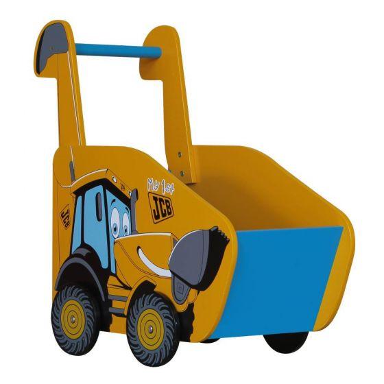JCB Yellow Children's Digger Push Along Toybox