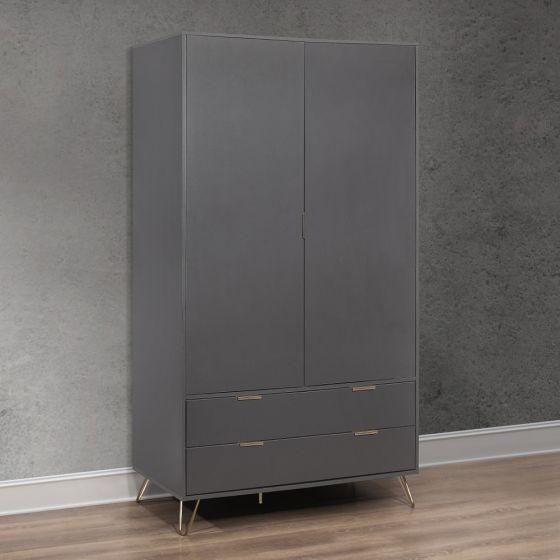 Arlo Charcoal Wooden Combination Wardrobe