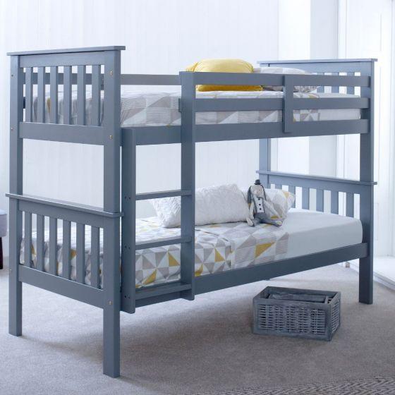 Atlantis Grey Wooden Bunk Bed Frame