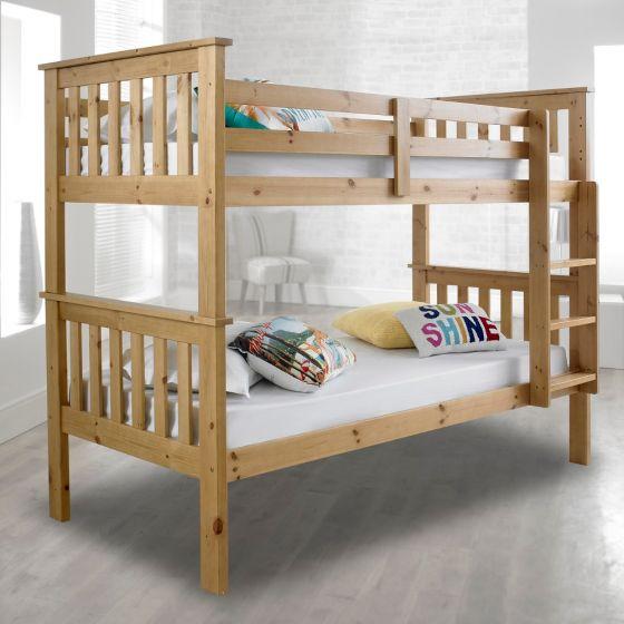 Atlantis Solid Pine Wooden Bunk Bed