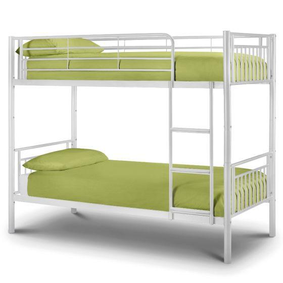 Atlas White Gloss Metal Bunk Bed