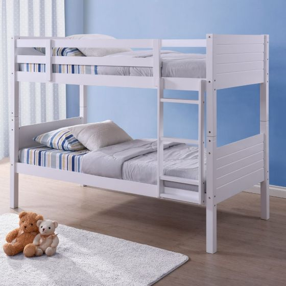 Bedford White Wooden Bunk Bed
