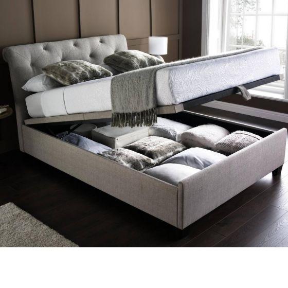 Brunswick Fabric Ottoman Storage Bed