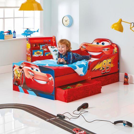 Cars Toddler 2 Drawer Storage Bed
