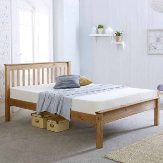 Chester Waxed Pine Wooden Bed