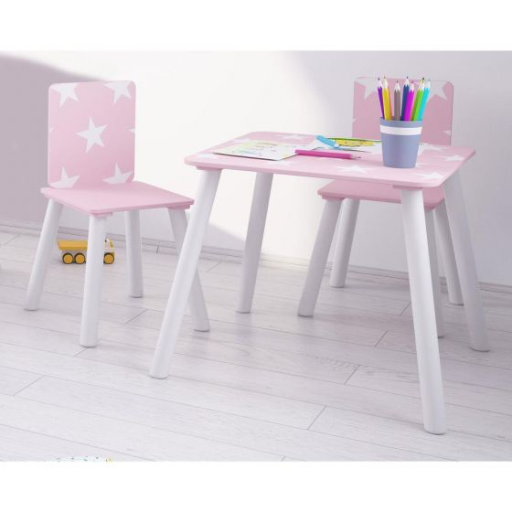 Star Pink and White Table and Chairs