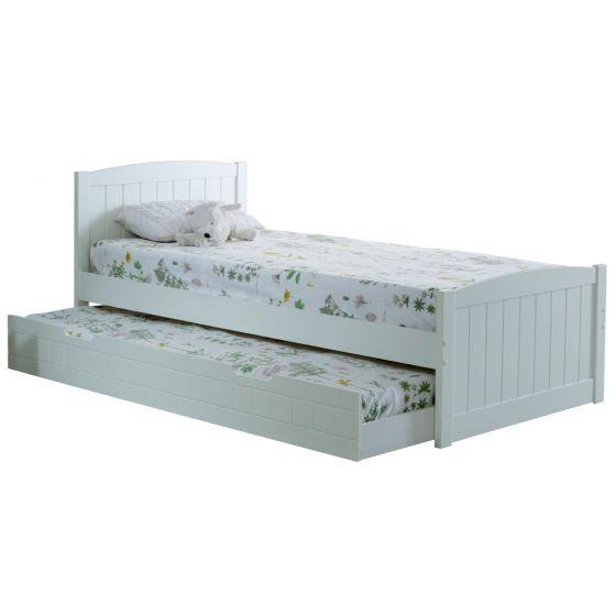 Denver Soft White Wooden Guest Bed