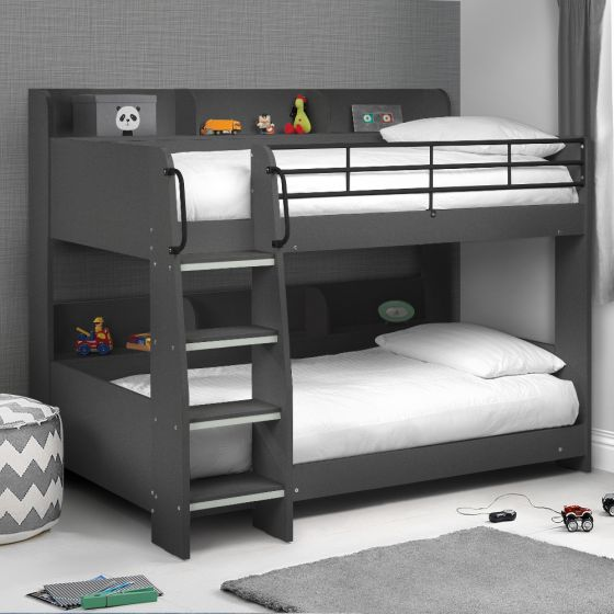 Domino Anthracite Wooden and Metal Kids Storage Bunk Bed