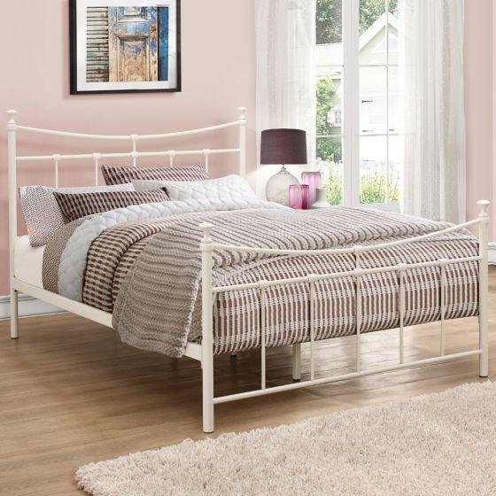 Emily Cream Metal Bed