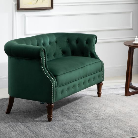 Freya Green Fabric 2 Seater Sofa