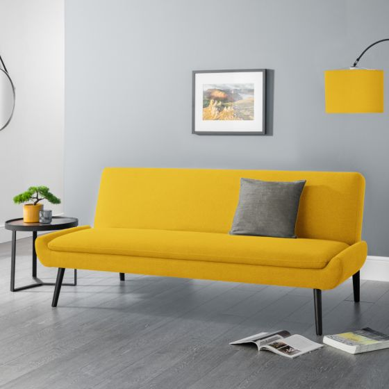 Gaudi Mustard Fabric Sofa Bed