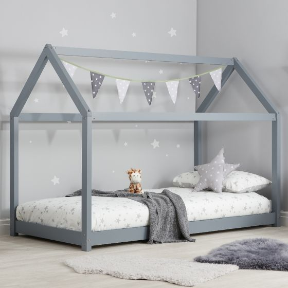 House Grey Wooden Bed