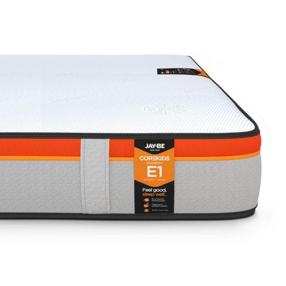 Jay-Be CoreKids E1 IR-Energy 750 Pocket Spring Mattress – 3ft Single (90 x 190 cm) for £239.99