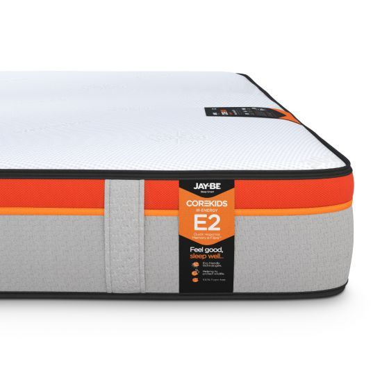 Jay-Be CoreKids E2 IR-Energy 750 Memory Pocket Spring Mattress – 3ft Single (90 x 190 cm) for £259.99