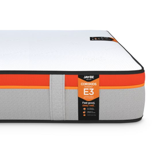 Jay-Be CoreKids E3 IR-Energy 1600 Micro Pocket Spring Mattress – 3ft Single (90 x 190 cm) for £274.99