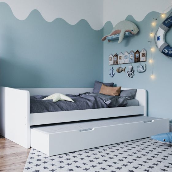 Kudl White Wooden Day Bed