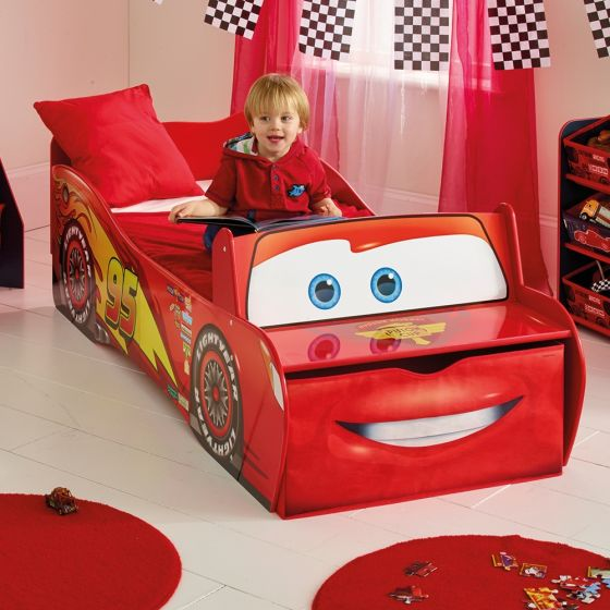 Cars Lightning McQueen Toddler Storage Bed