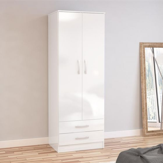 Lynx 2 Door Combination Wardrobe White from £214.99