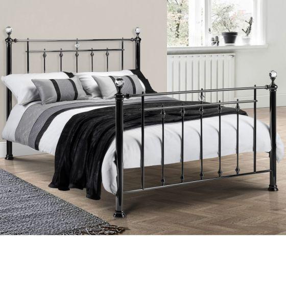 Marquis Black Metal Bed