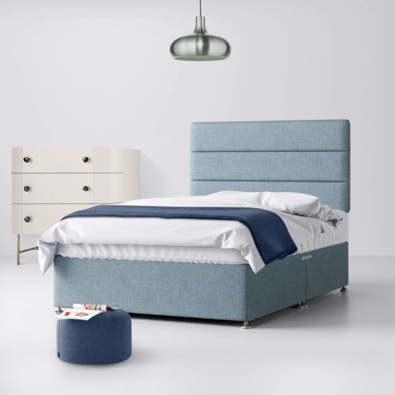 Cornell Lined Duck Egg Fabric Divan Bed
