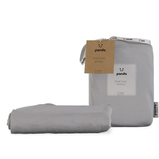 Panda 100% Bamboo Duvet Cover - Quiet Grey