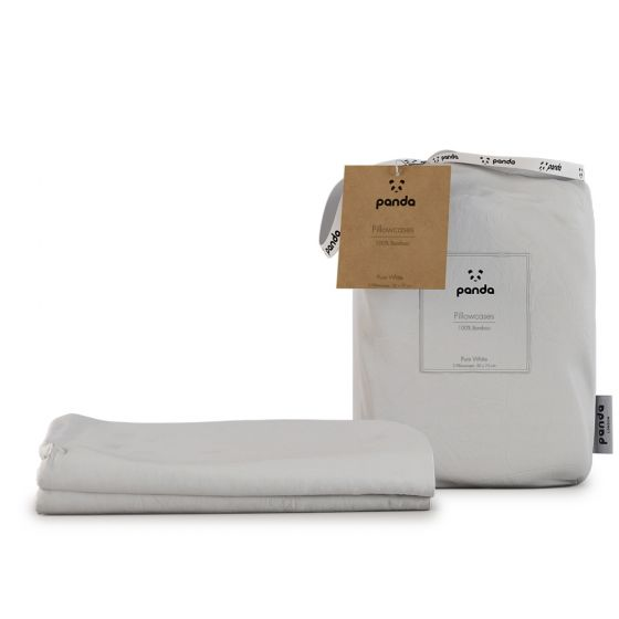 Panda 100% Bamboo Pillowcases - Pure White