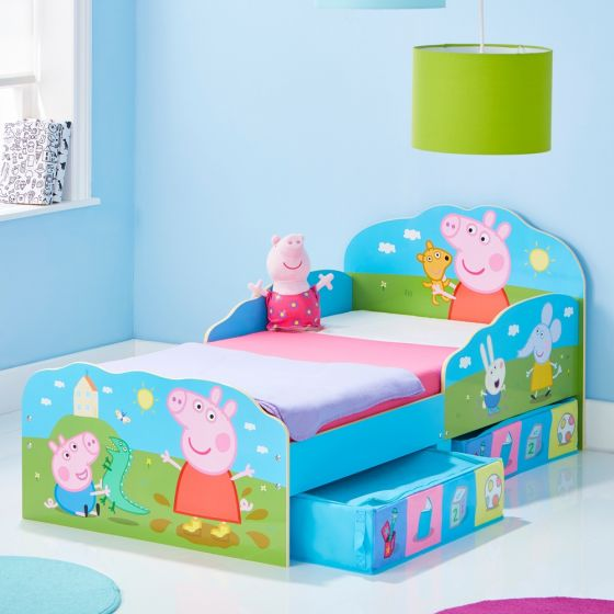 Peppa Pig Toddler 2 Drawer Storage Bed