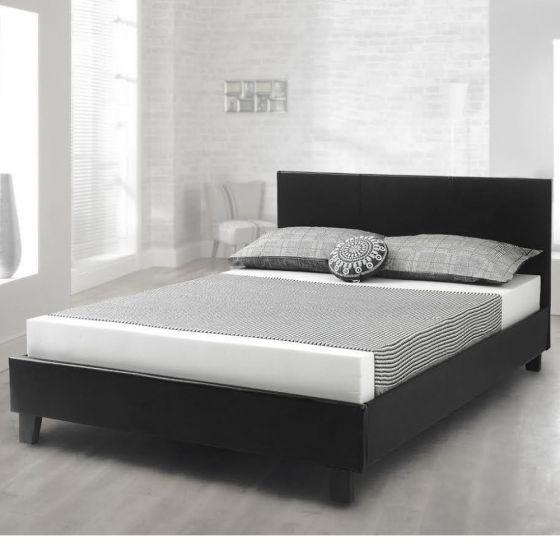 Prado Black Leather Bed