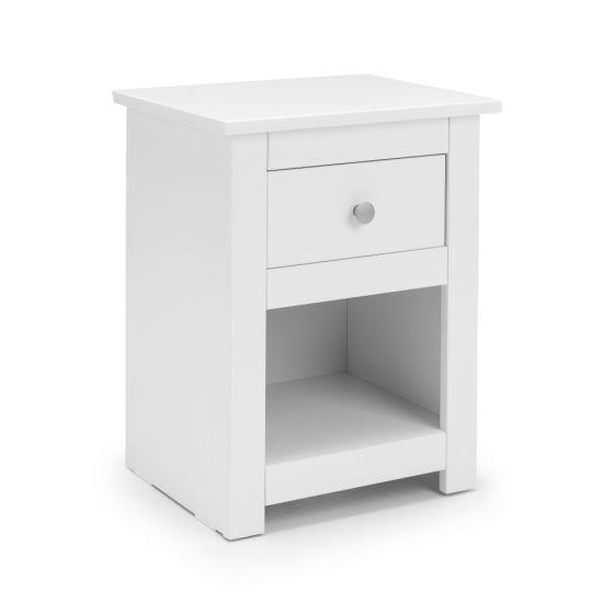 Radley White 1 Drawer Bedside Table