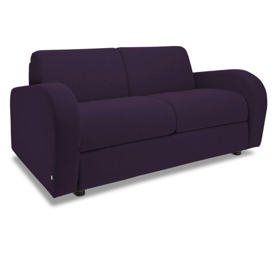 Jay-Be Retro Aubergine 2 Seater Sofa Bed
