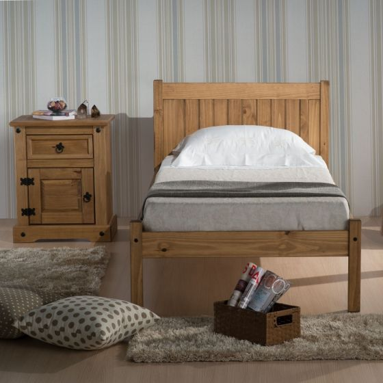 Rio Waxed Solid Pine Wooden Bed