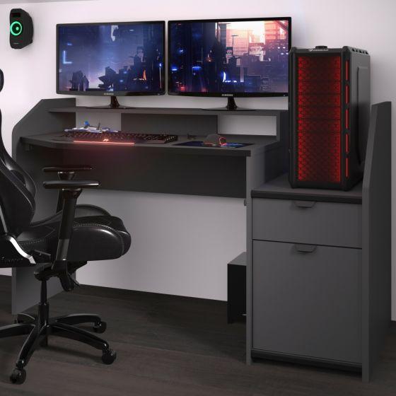 SetUp Medium Grey Gaming Desk