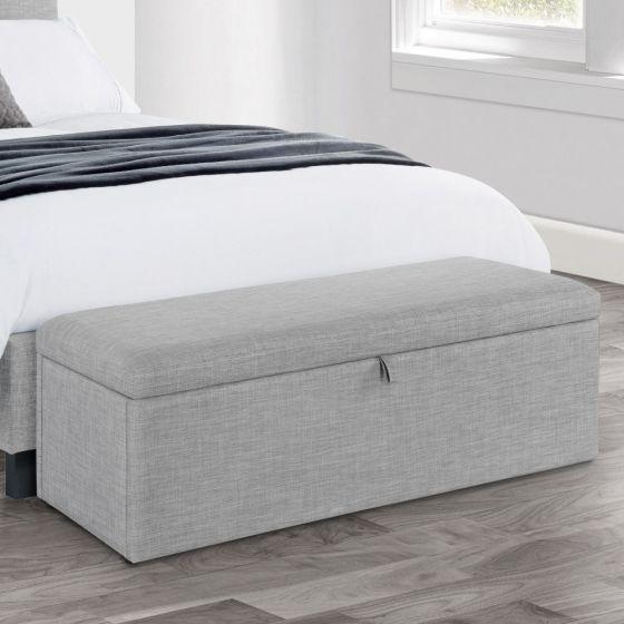Sorrento Light Grey Blanket Box