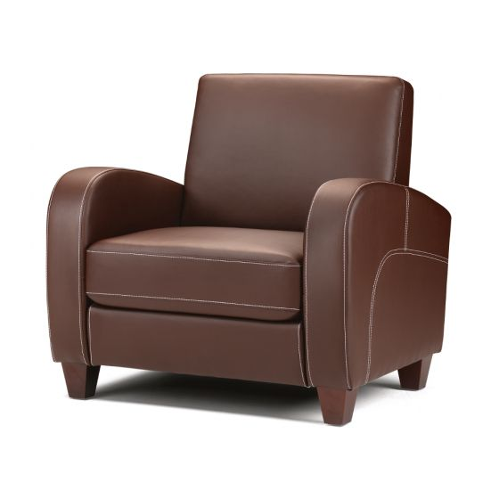 Vivo Brown Faux Leather Chair