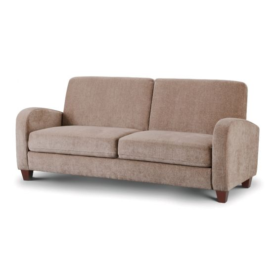 Vivo Mink Fabric 3 Seater Sofa