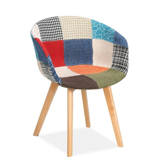Whittaker Multi-Coloured Patchwork Fabric Chair