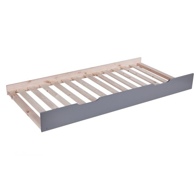 Tyler Grey Wooden Trundle Guest Bed