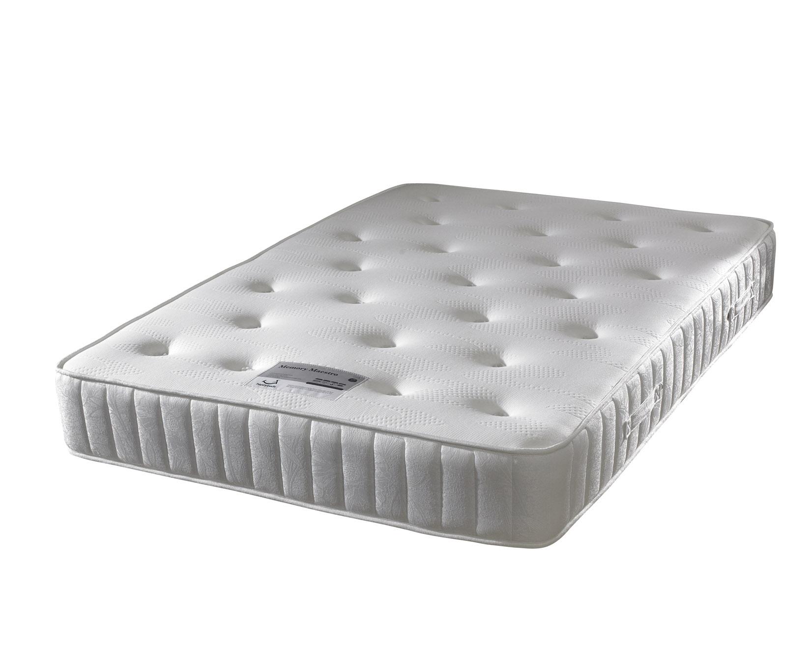 Happy Beds Memory Maestro Memory Foam Mattress Handmade Bonnell Spring Support Ebay