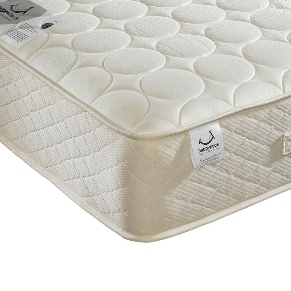 Happy Beds Mirage Natural Wool Mattress Organic Bamboo