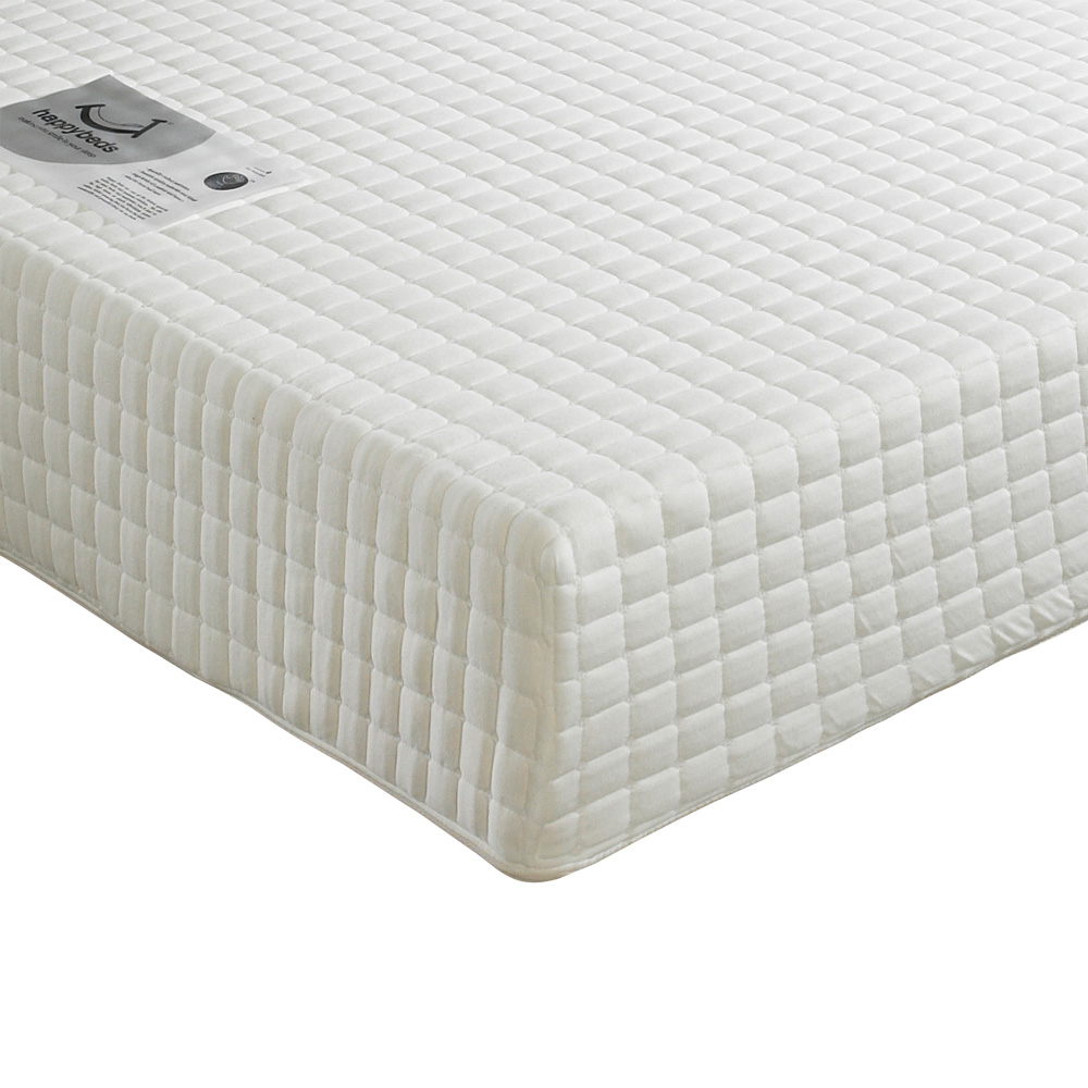 Happy Beds Impressions Memory Laytech Foam Mattress Orthopaedic Zip Cover New Ebay