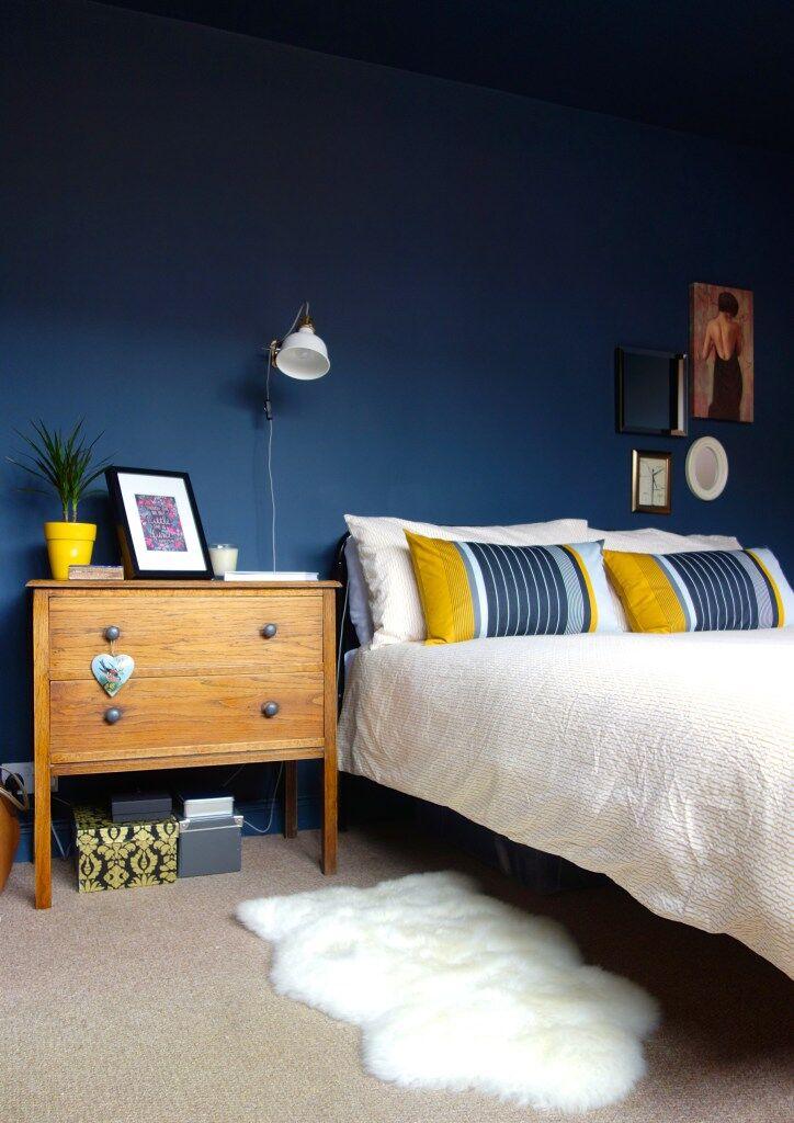 karen knox dark wall bedroom