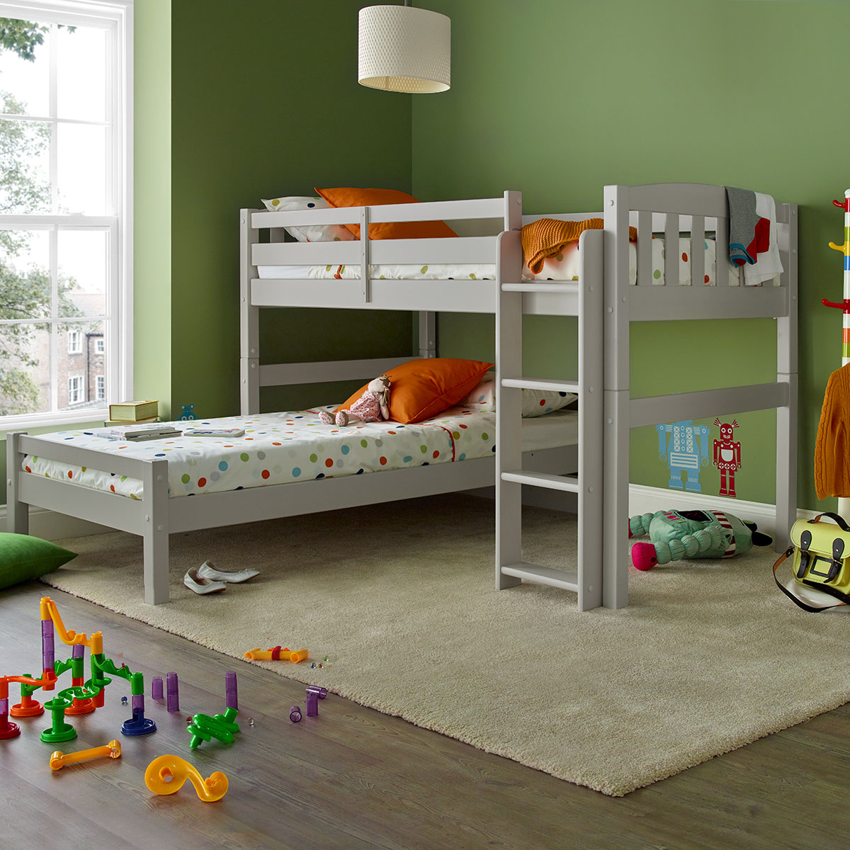 Picture of: Max Grey Wooden Combination Bed Happy Beds
