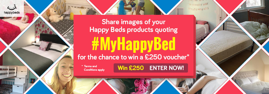 Share images of your Happy Beds products and win £250!