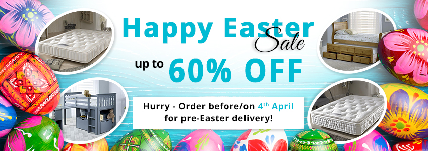 Easter Offers - up to 60% off. Order before/on 4th April for pre-Easter delivery