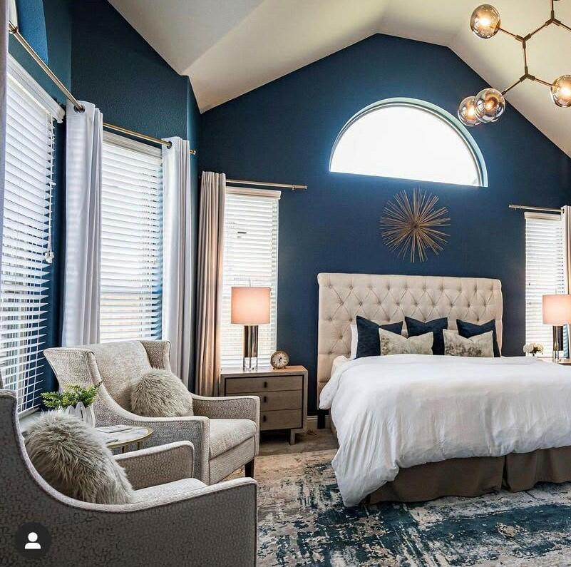 navy blue bedroom